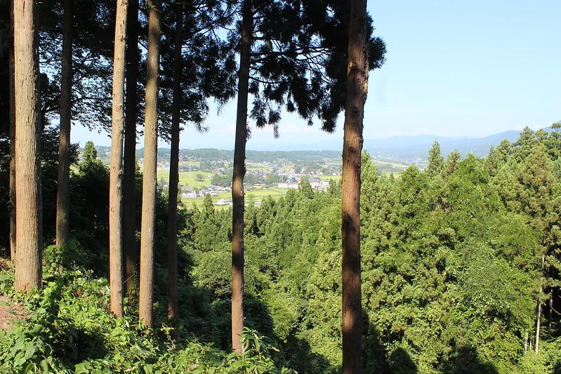 中尊寺からの景色