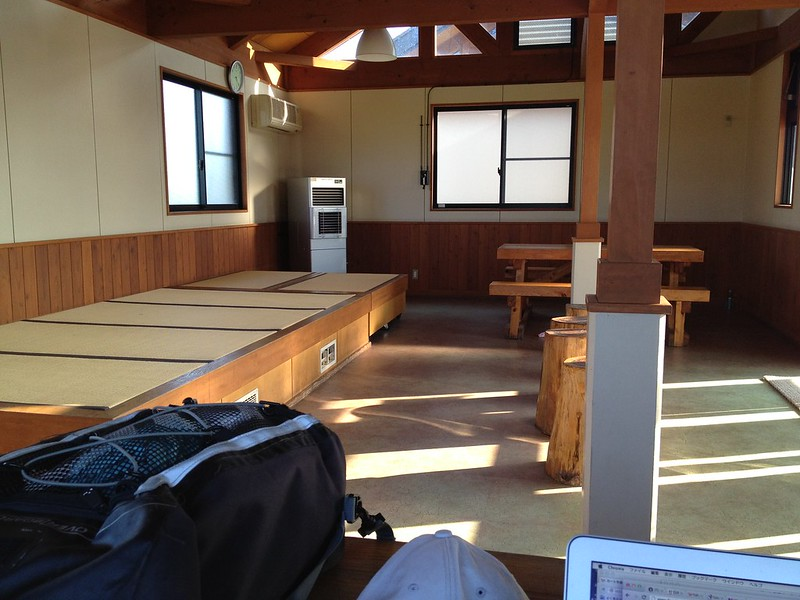 道の駅厳美渓の休憩室
