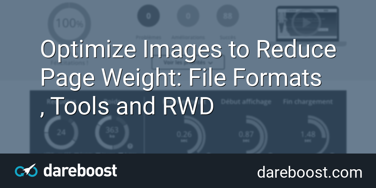 Optimize Images to Reduce Page Weight: File Formats, Tools