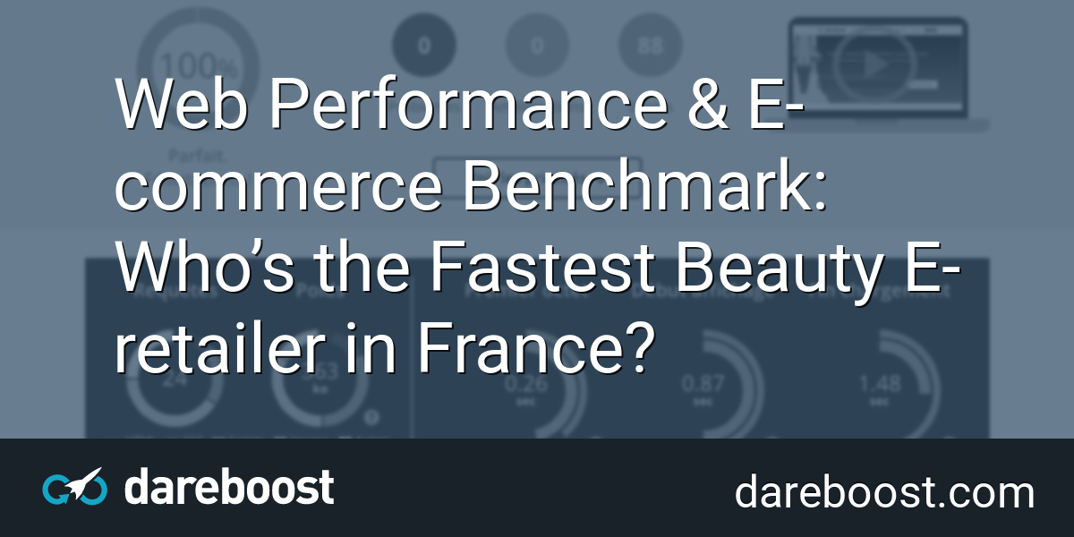 Web Performance & E-commerce Benchmark: Who's the Fastest
