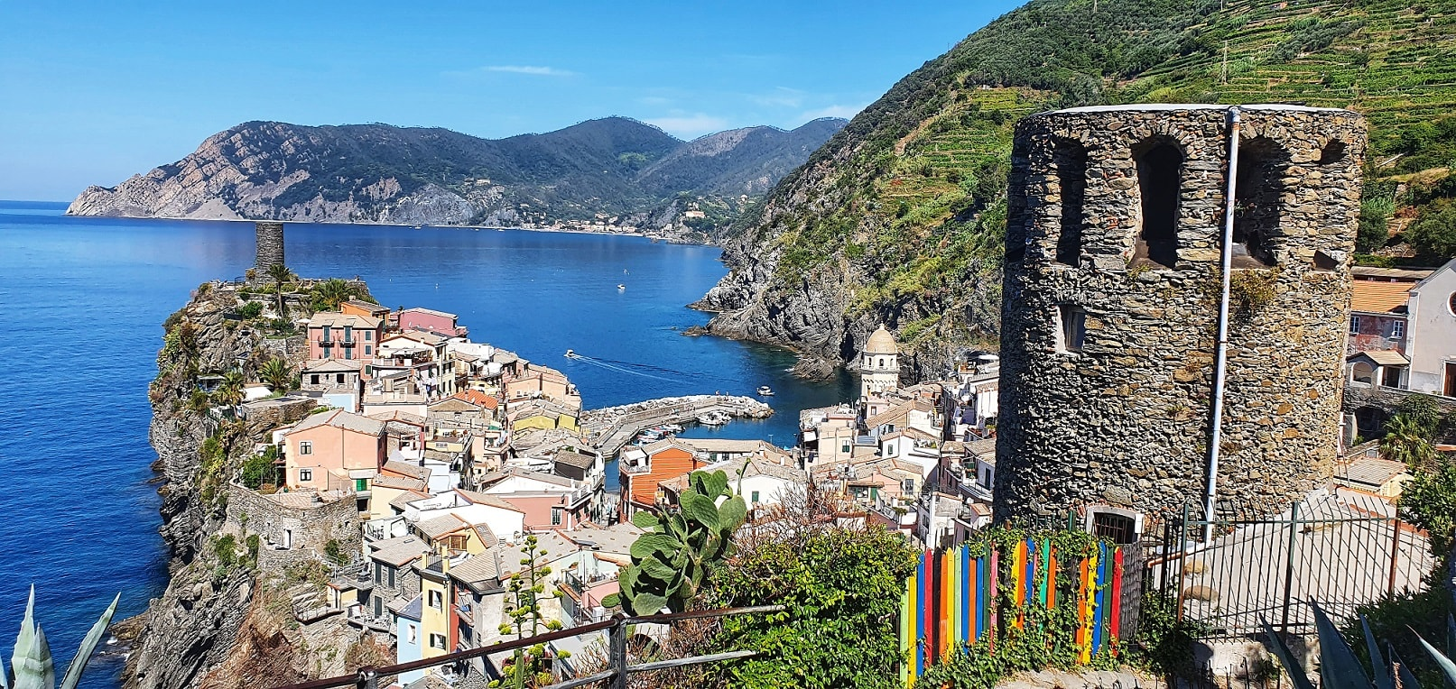 the view back over Vernazza