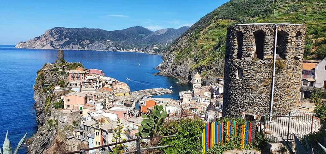 looking back on vernazza