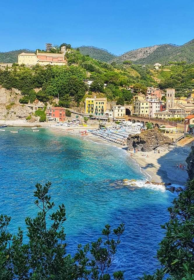 view of monterosso from the vernazza trail