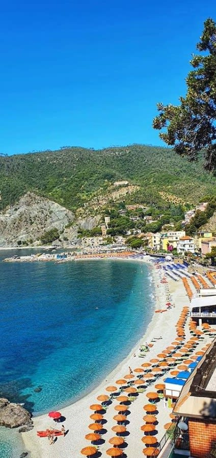 the beautiful sand beaches of monterosso