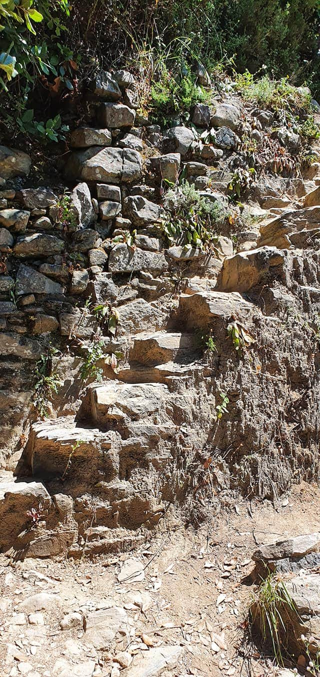 steps on the high trail from corniglia