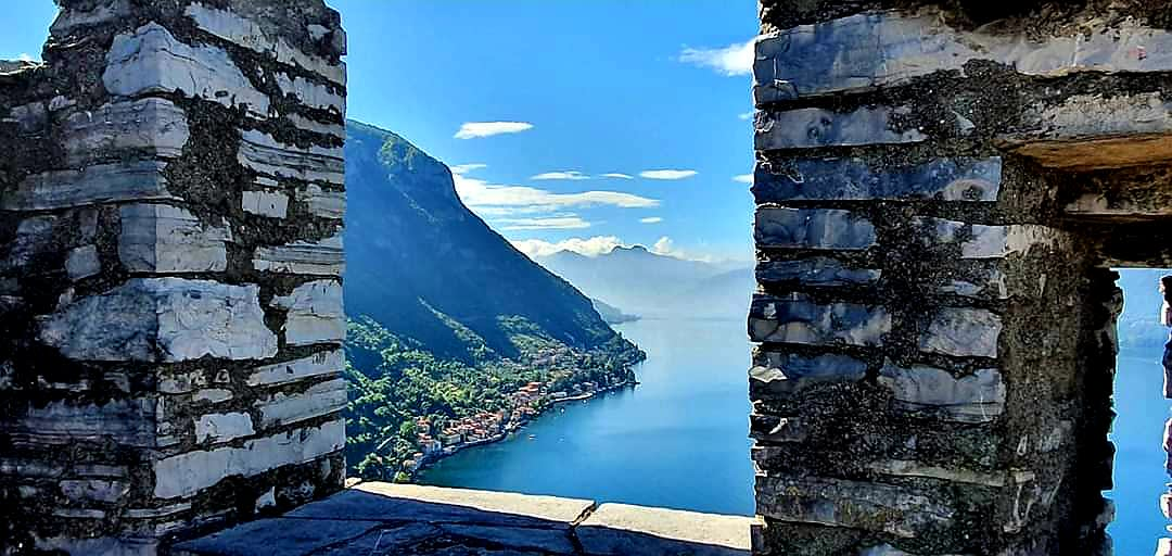 lake como from castle