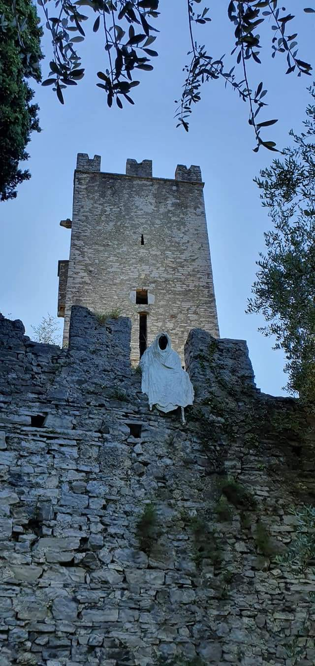 a ghost guards the castle entrance
