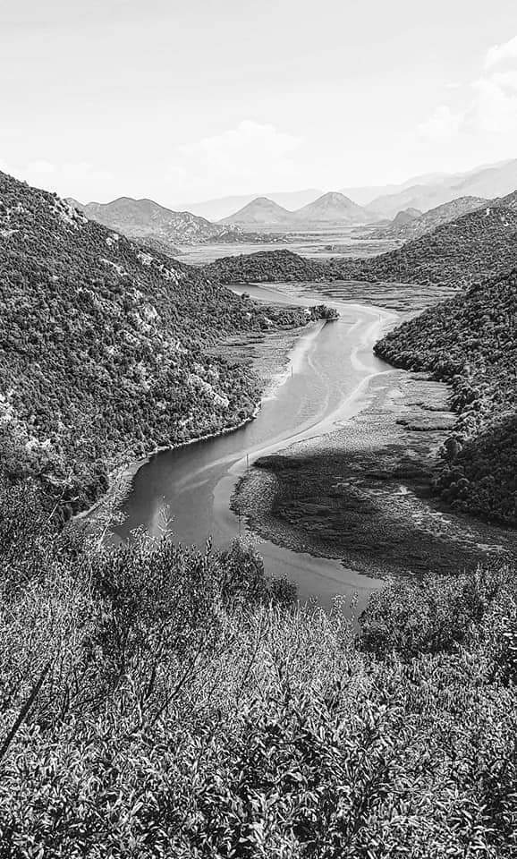 skadar view black and white
