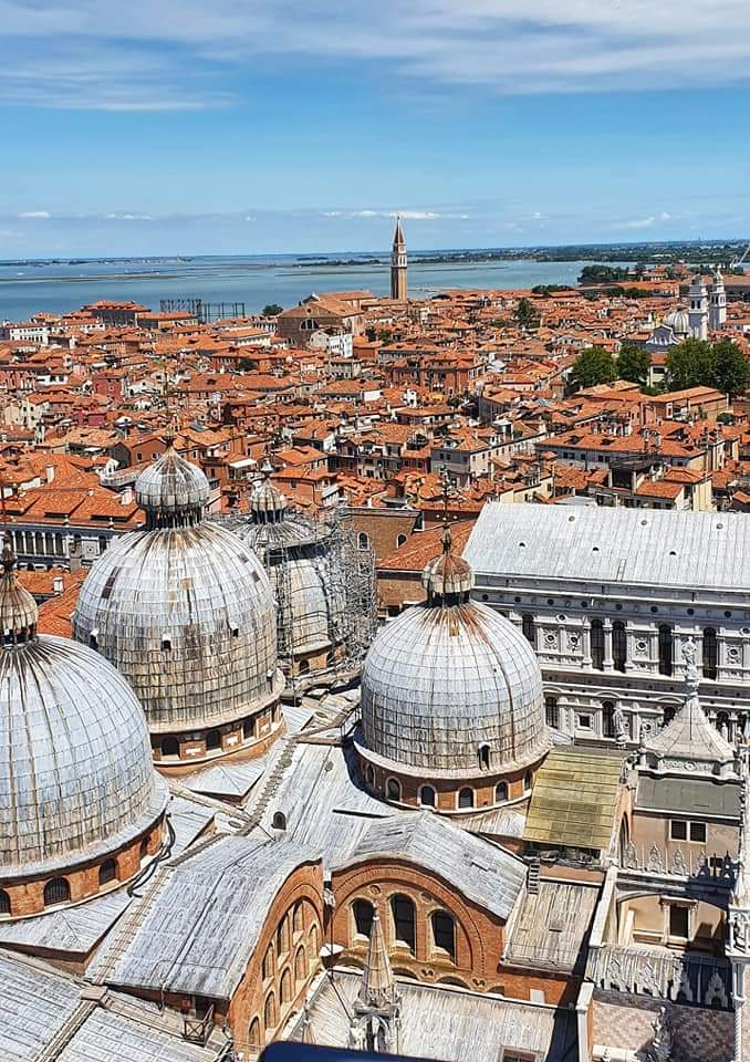 view from belltower in venice
