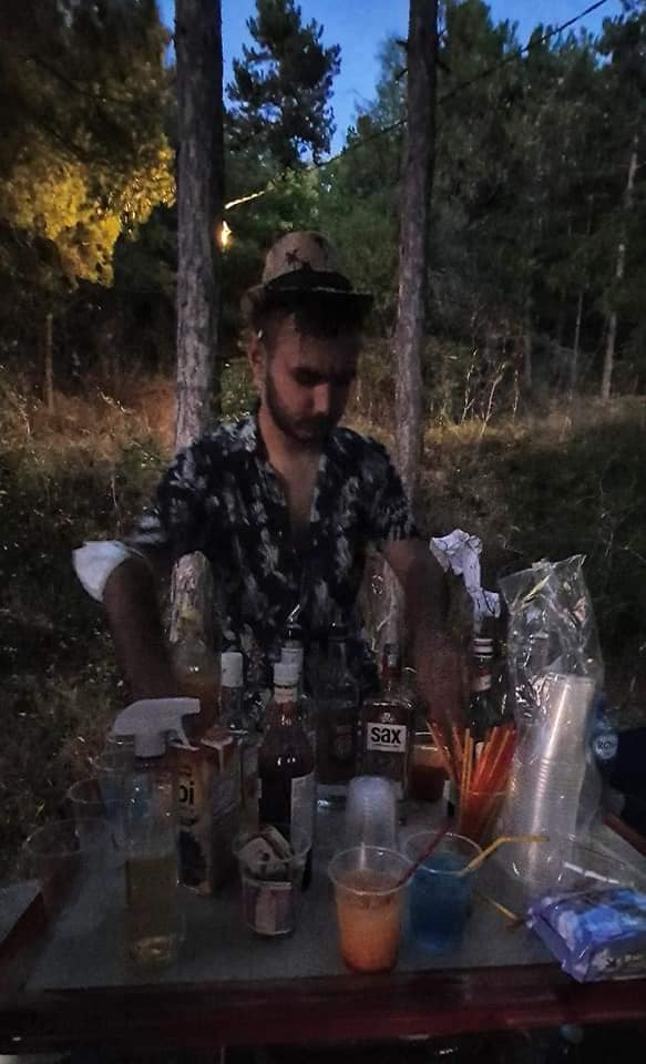 cocktail bar in forest