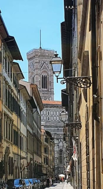 view of duomo from a florence street