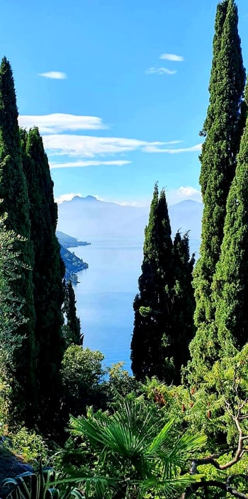 lake como from the castle