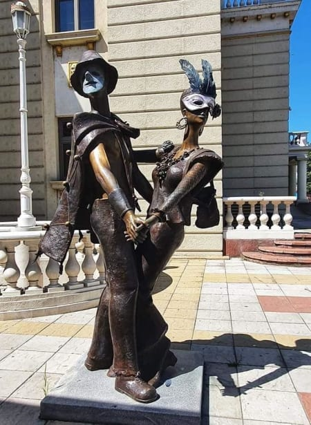 statue outside concert hall