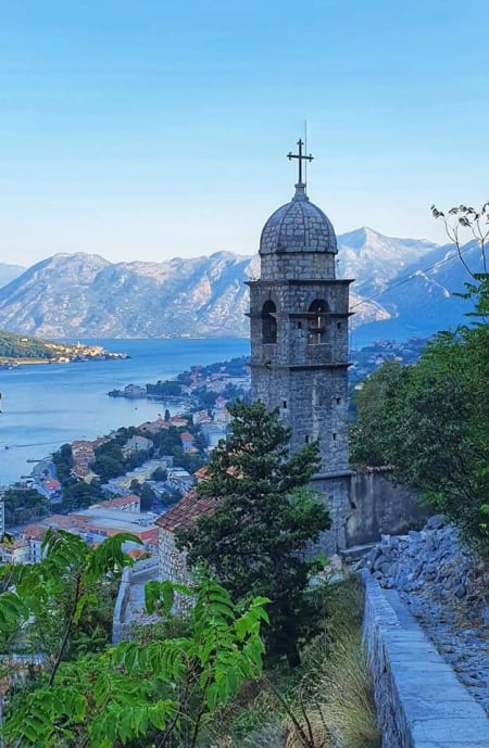 church on way to kotor fortress