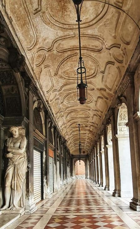 colonnade in venice