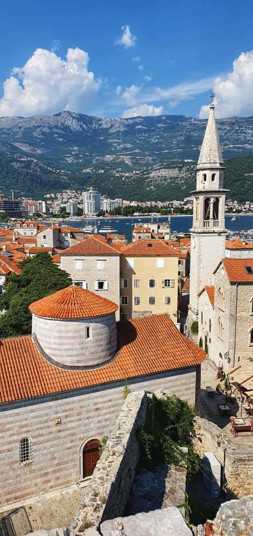buildings view from budva fortress