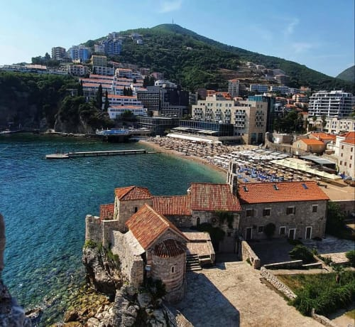 view from budva fortress