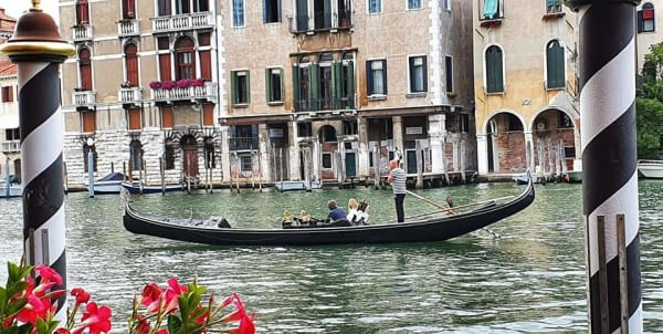 gondolier on grand canal