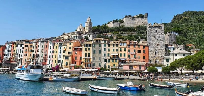 view from portovenere from the sea