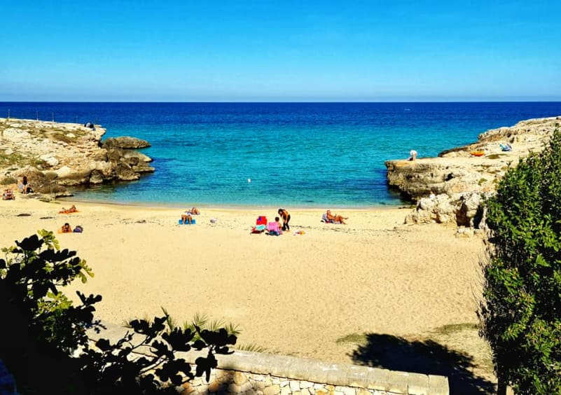 small beach in monopoli
