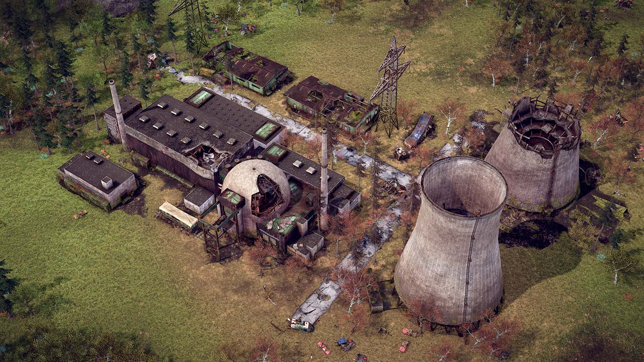 destroyed power plant in endzone