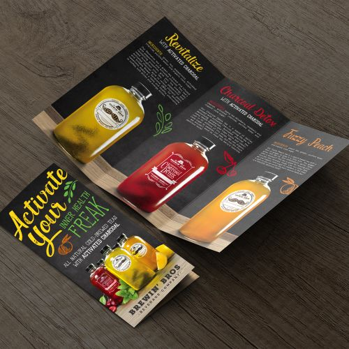 bottle brochure design