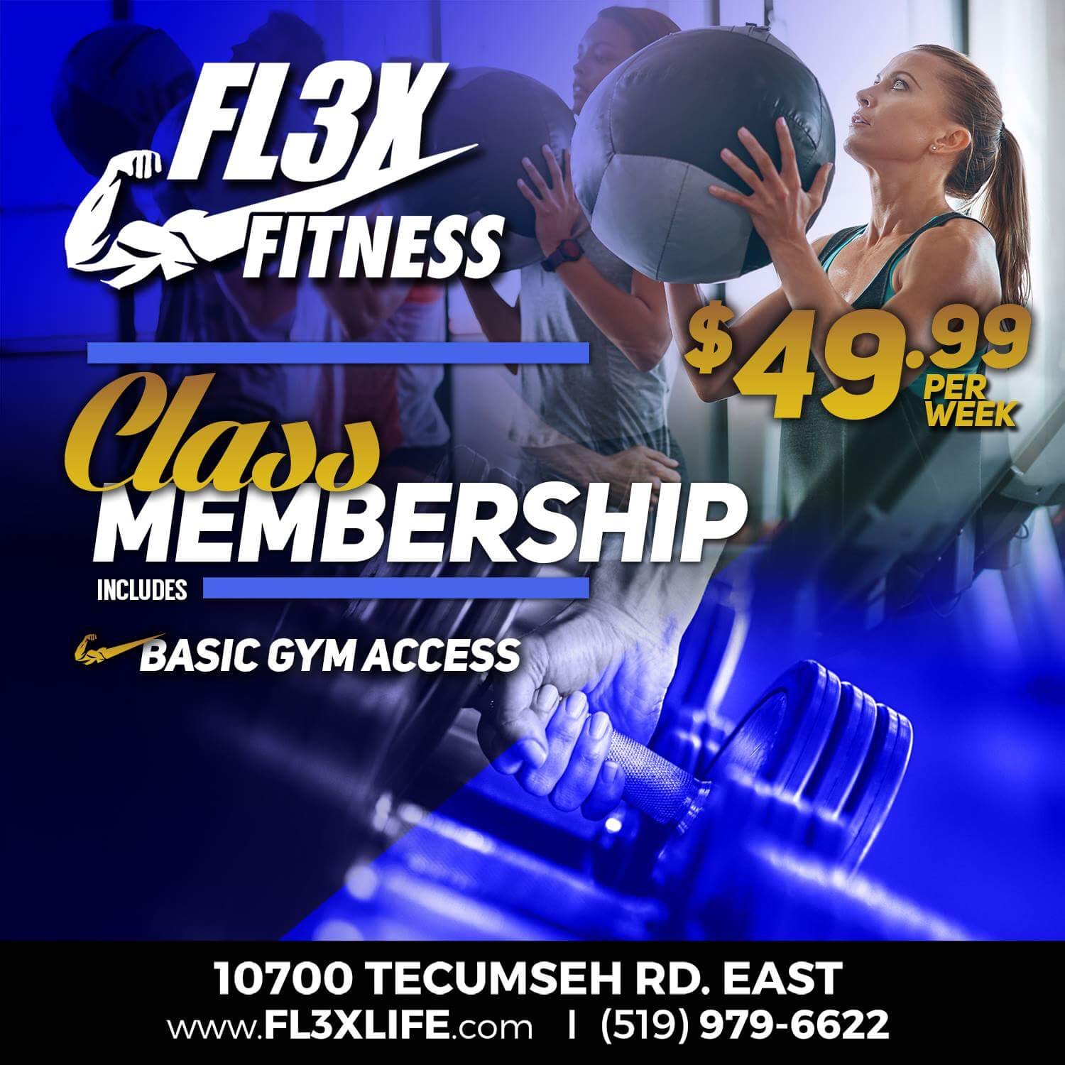 Class Membership - $49.99 - includes basic gym access