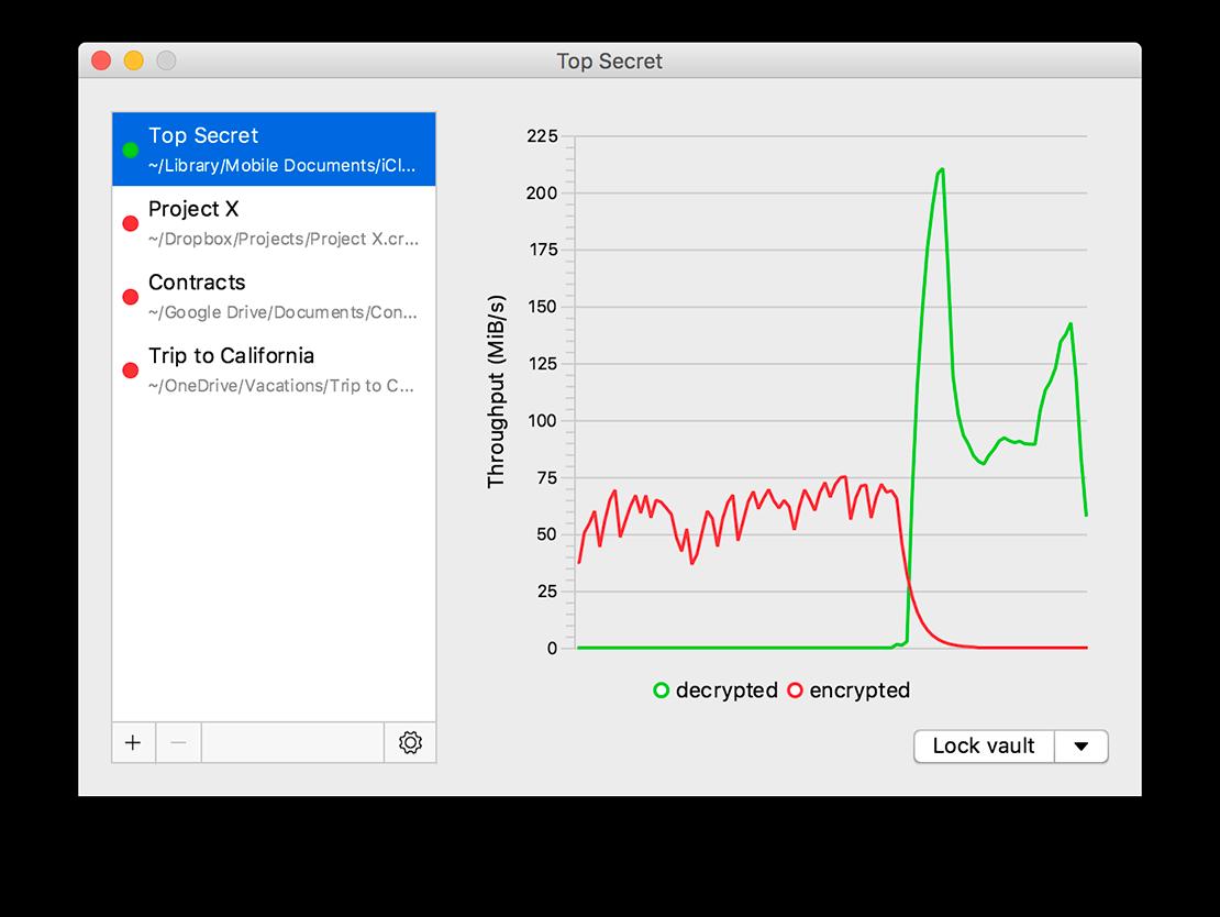 Cryptomator example screenshot