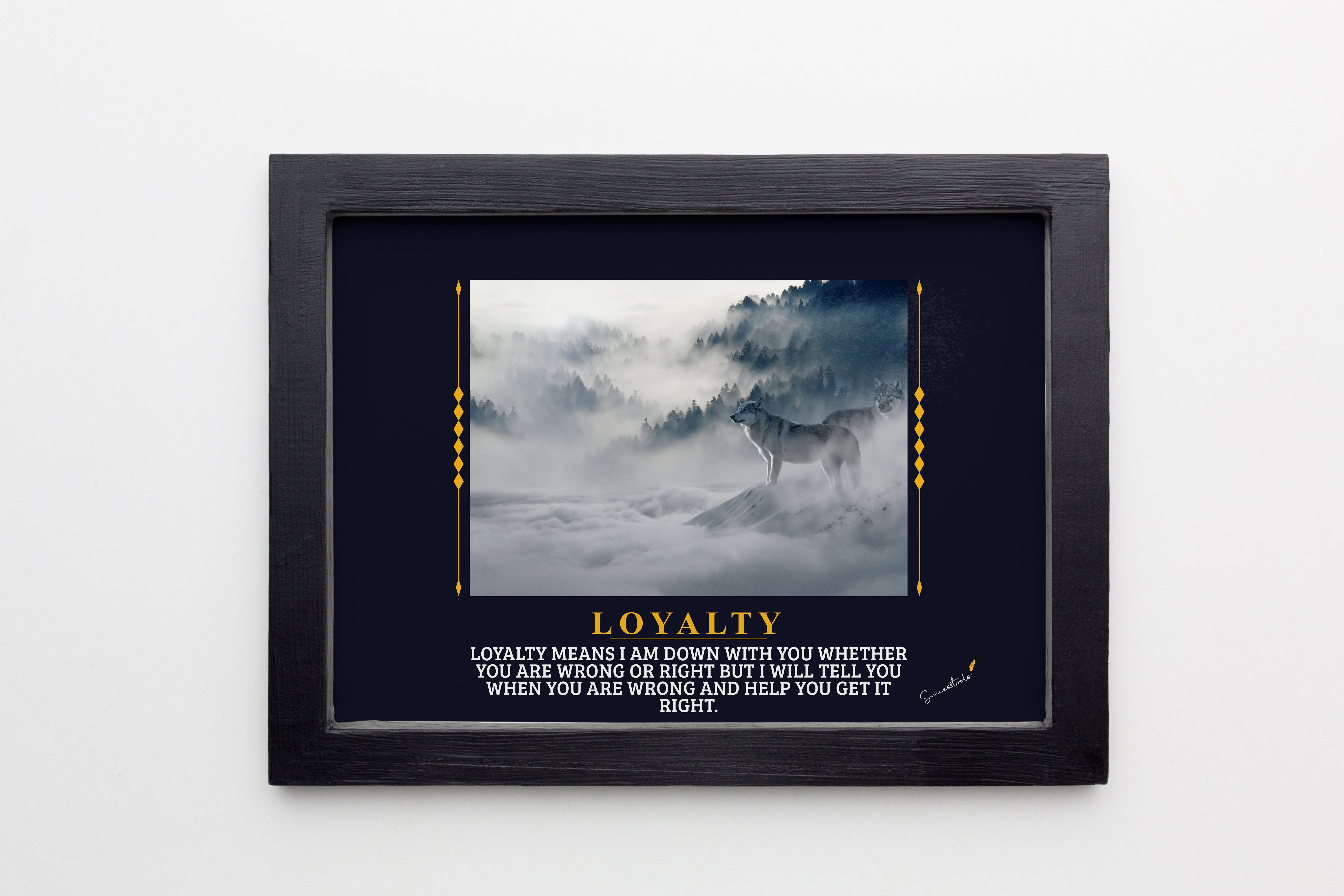 Loyalty Wolf Framed Poster