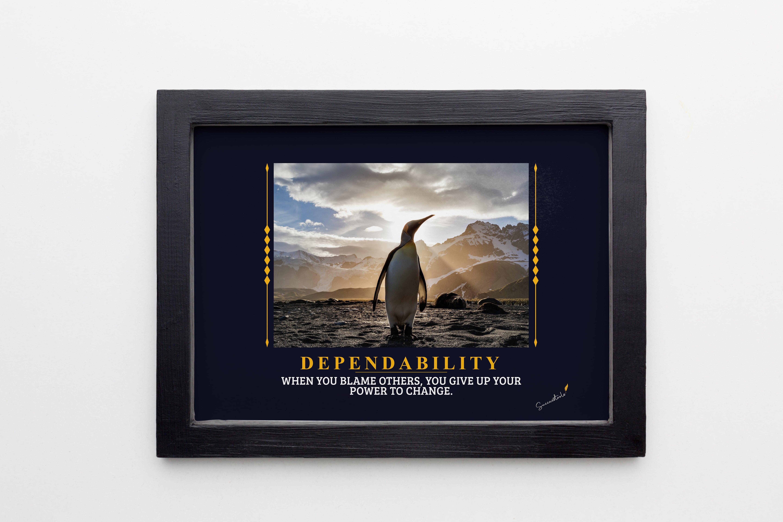 Dependability Penguin Framed Poster