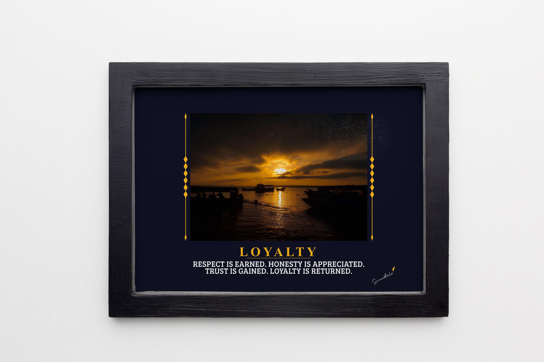 Loyalty Boat Sunset Framed Poster