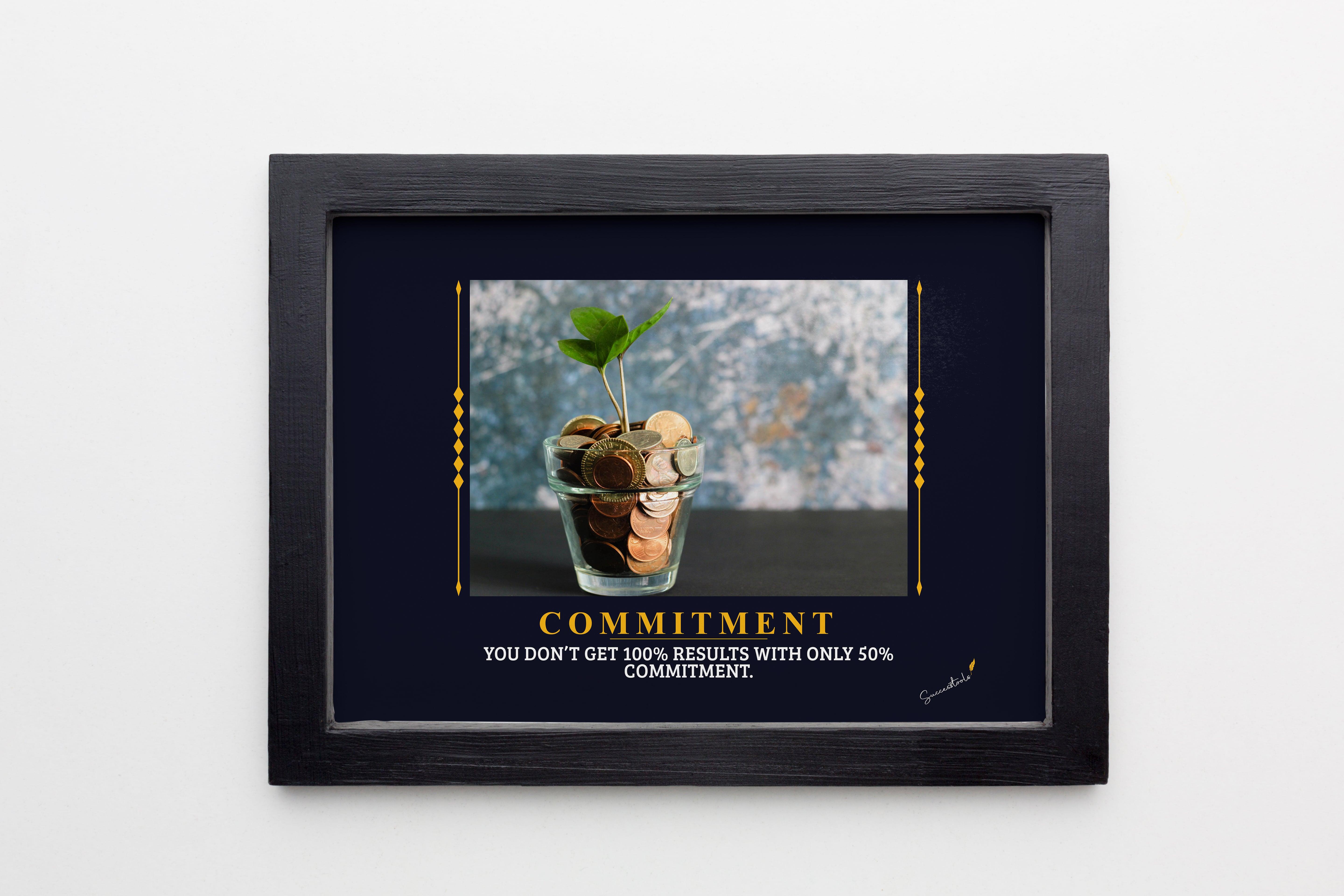 Commitment Coin In A Glass Framed Poster