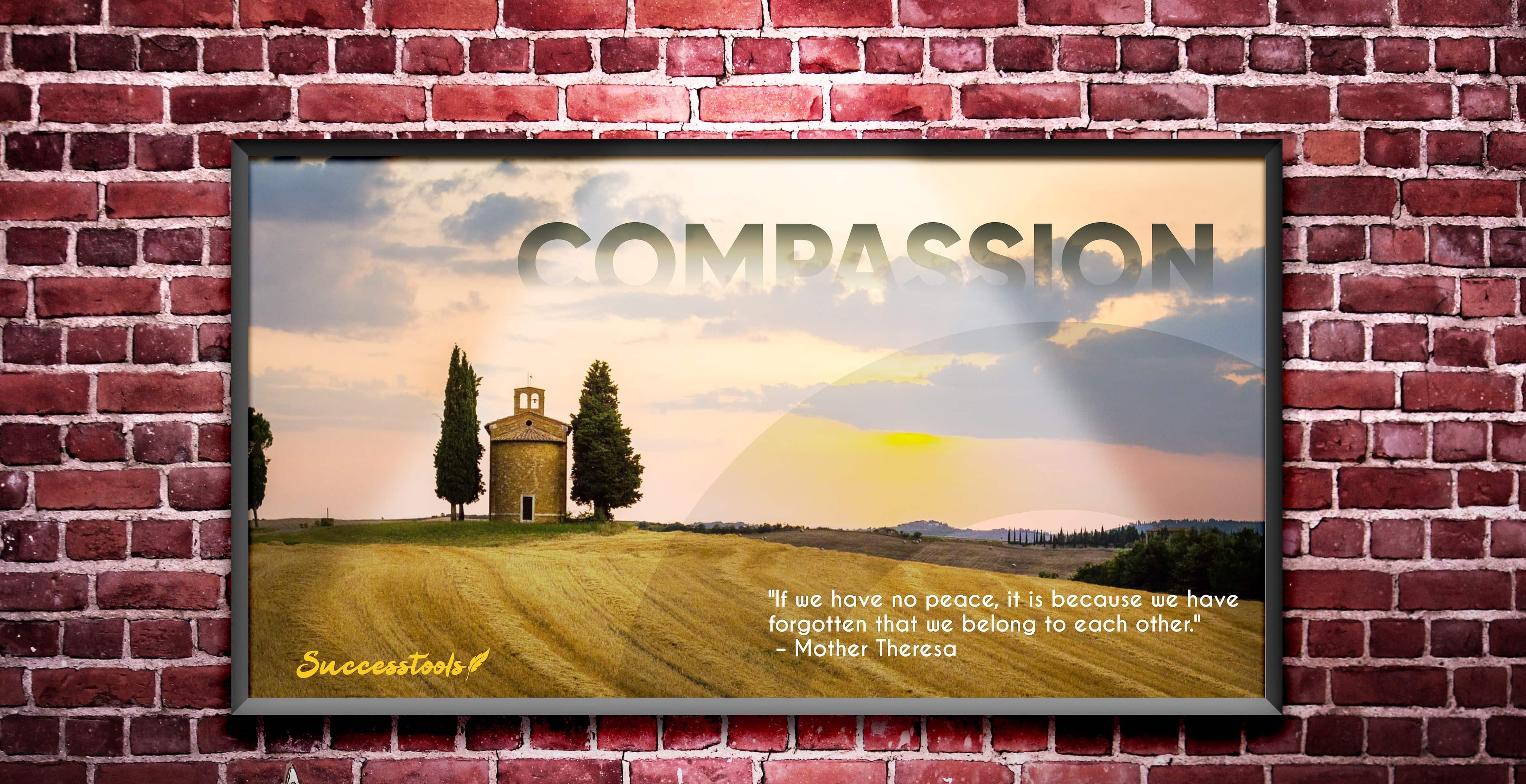 Framed Motivational Poster (Compassion)