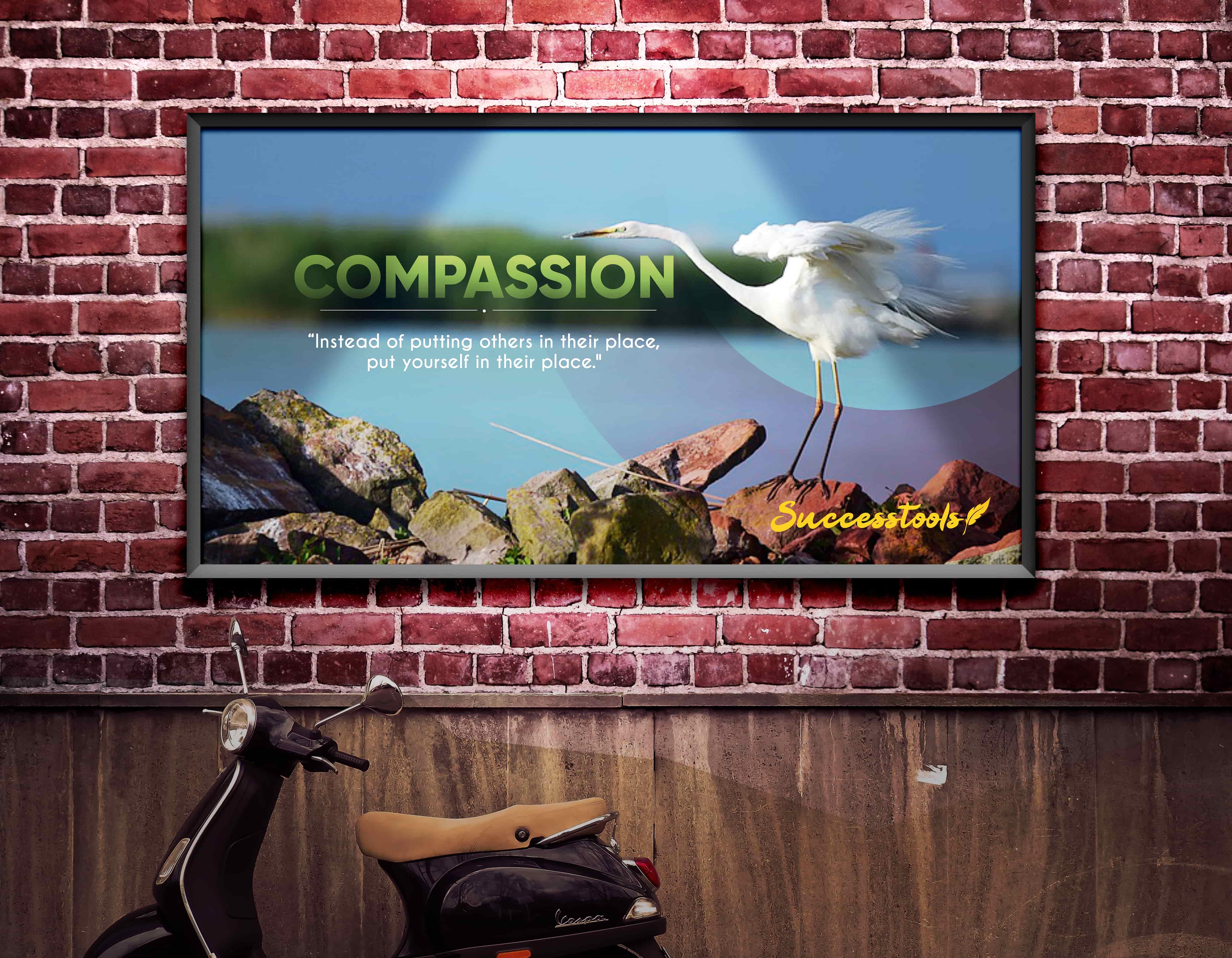 Framed Motivational Poster ( Compassion)