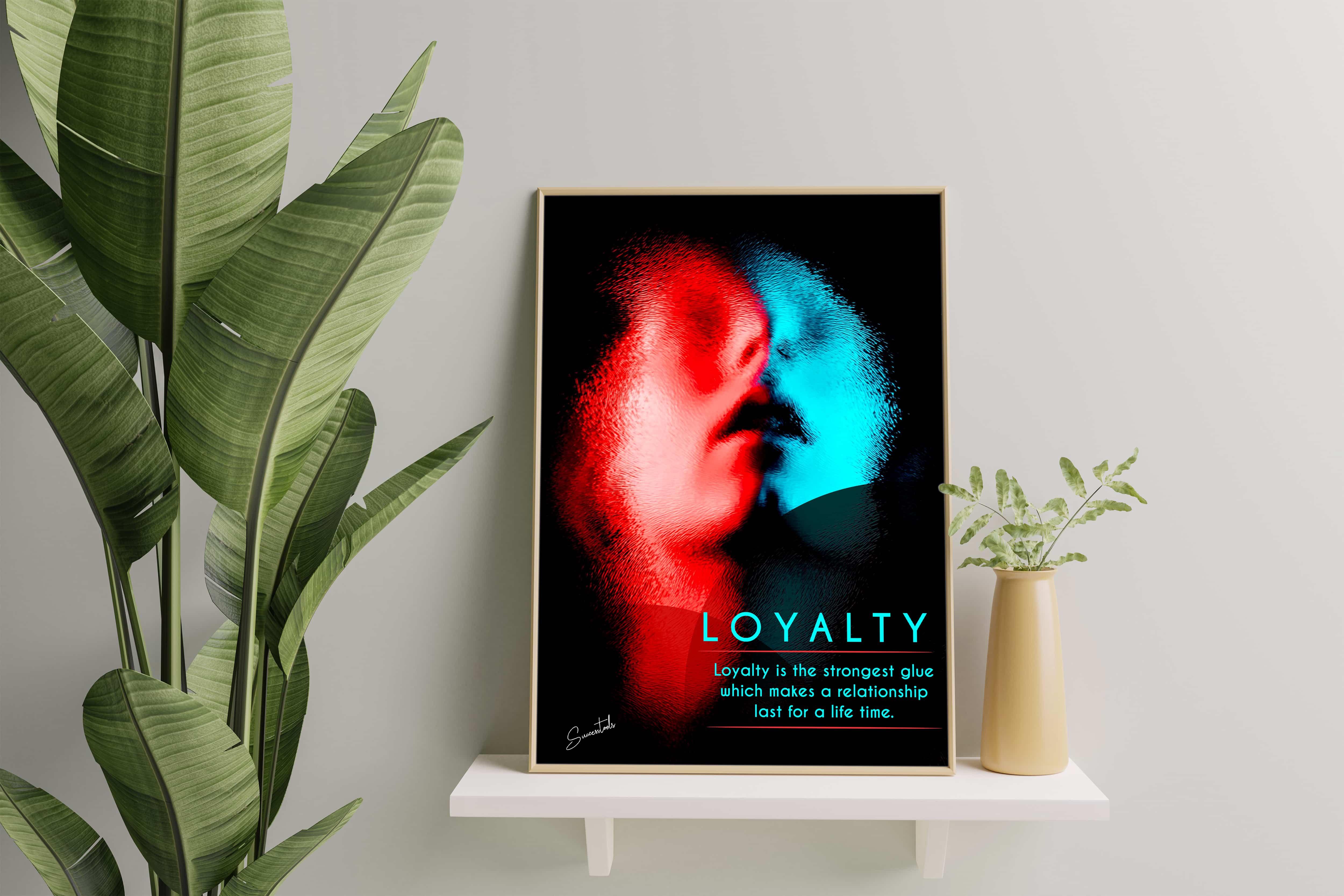 Framed Motivational Poster ( Loyalty)
