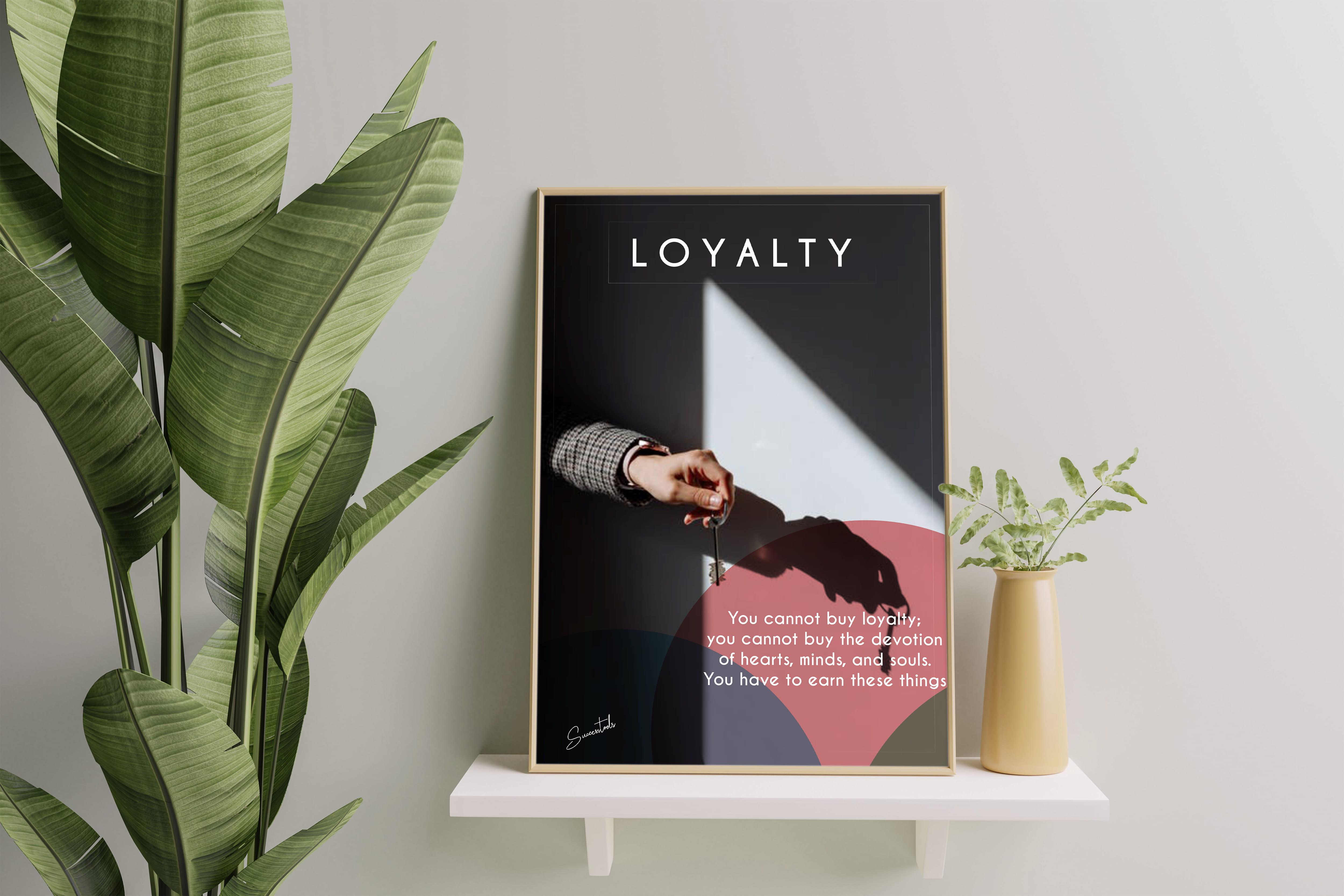 Framed Motivational Poster(Loyalty)