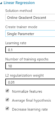 Select an algorithm image reguarlization for azure ml