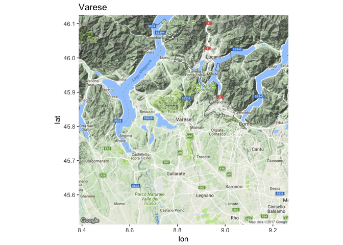 Image of Data Visualization Tool of Varese Map 1