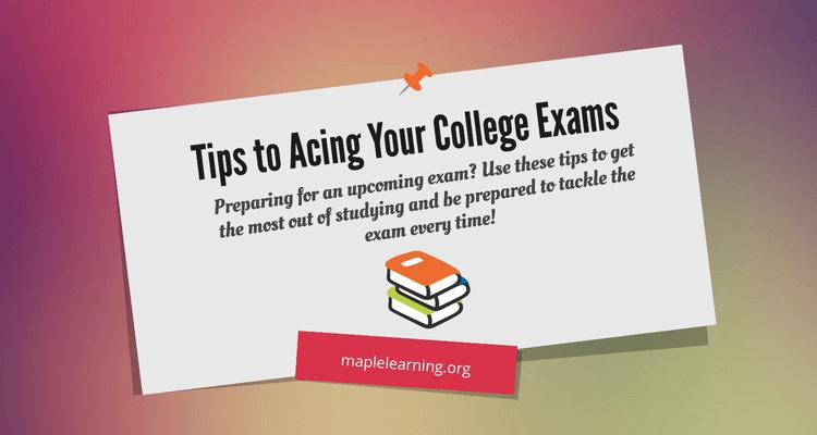 Acing college exams