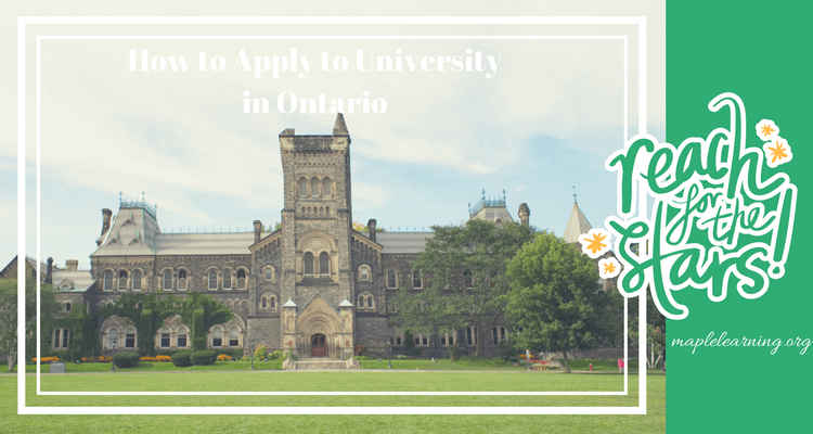 Applying to Ontario university