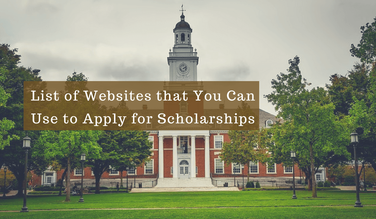 Websites for Scholarships