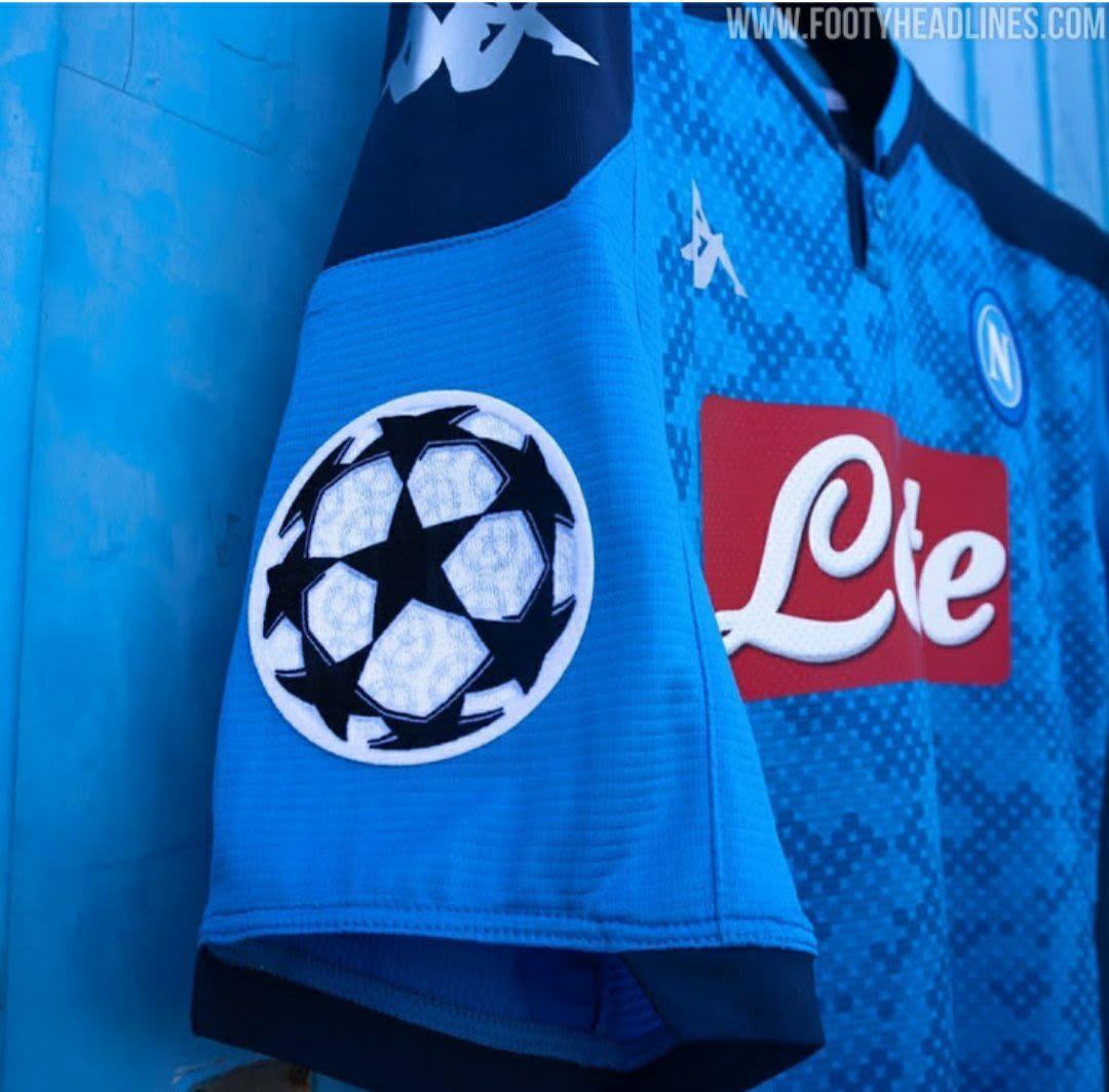 gambar foto Berita bocoran Jersey Liga Champions Napoli musim 2019-2020