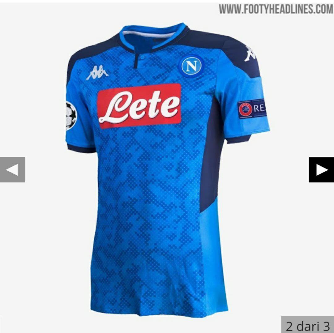 Berita bocoran Jersey Liga Champions Napoli musim 2019-2020