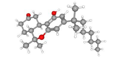 Nabilon, syntetický kanabinoidní a dibenzopyranový derivát