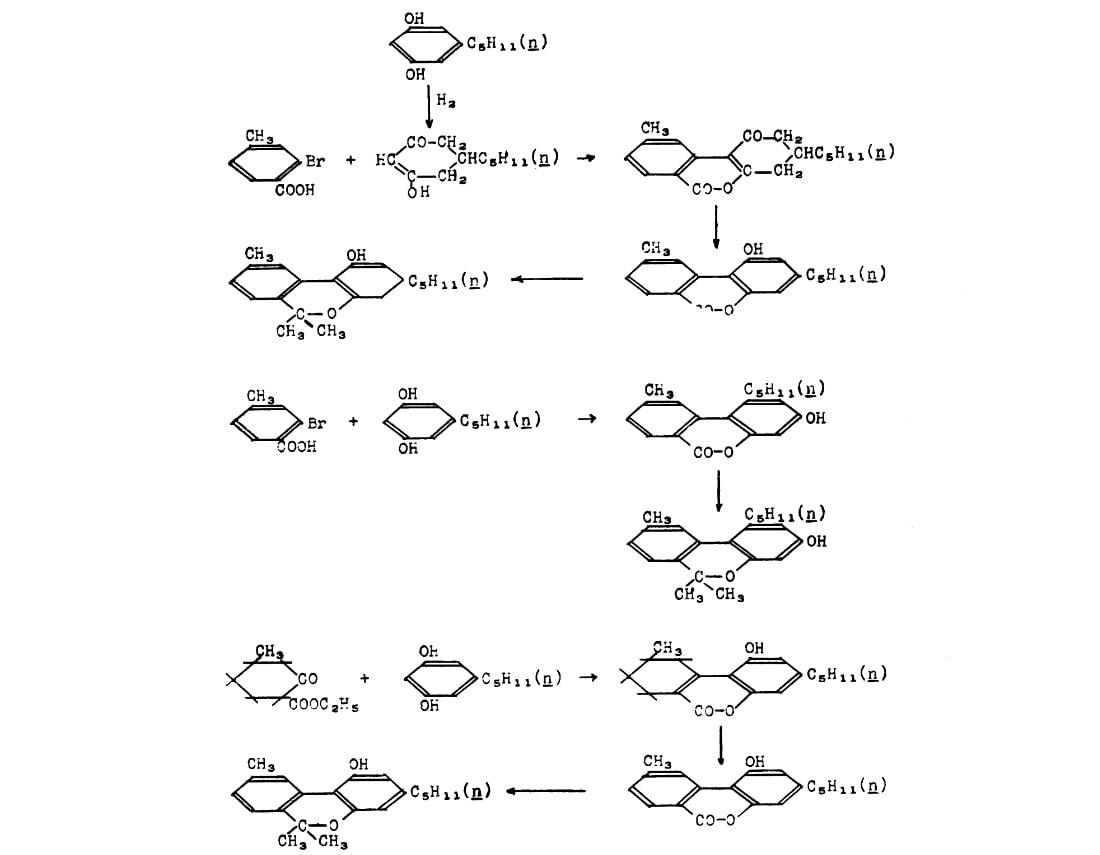 Marihuana, Roger Adams, 1942 - syntéza kanabinolu