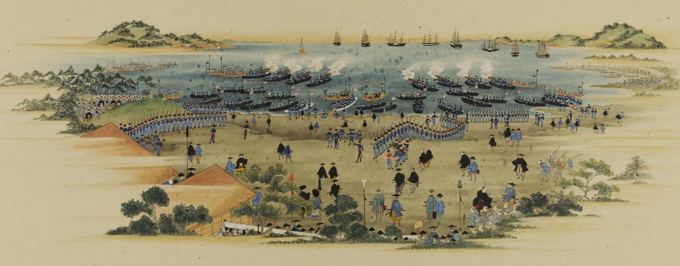 The arrival of the Americans at Yokohama