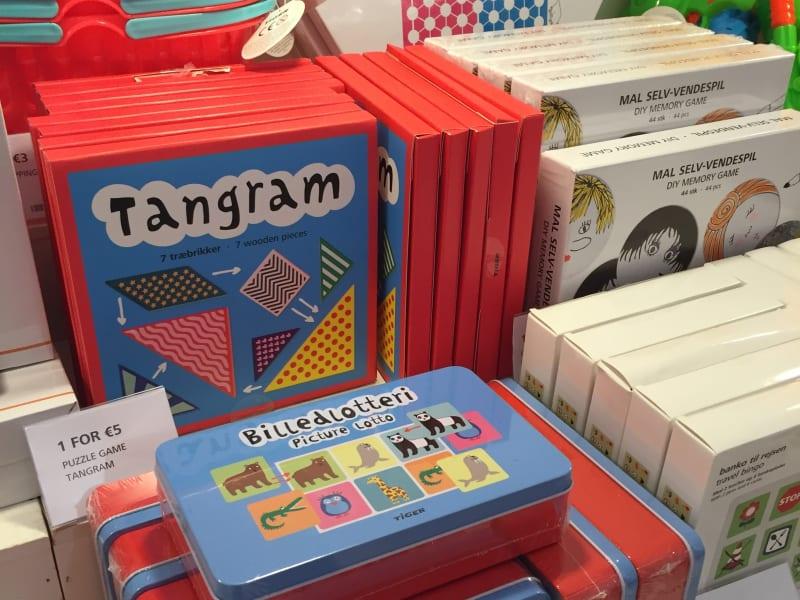 Tangrams for sale in a Dublin shop