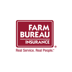 Louisiana Farm Bureau insurance logo caption text: Real Service. Real People.