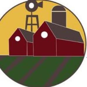 Two barns and a silo - Cascade Farmers Mutual Insurance logo