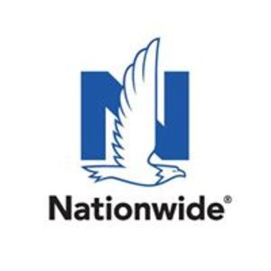 An eagle in front of the letter N, Nationwide logo